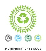 recycling  symbol   illustration | Shutterstock .eps vector #345143033