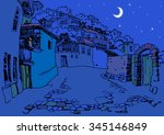 design of the  old city in the... | Shutterstock . vector #345146849