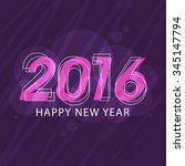 elegant greeting card design... | Shutterstock .eps vector #345147794