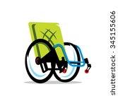 vector wheelchair handicap...   Shutterstock .eps vector #345155606