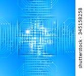 dark blue light abstract... | Shutterstock .eps vector #345158258