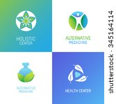 vector set of emblems and logo... | Shutterstock .eps vector #345164114