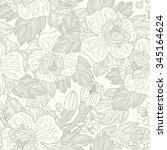 vector floral seamless pattern... | Shutterstock .eps vector #345164624