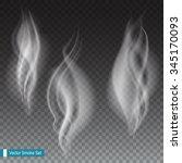 white smoke waves on...   Shutterstock .eps vector #345170093