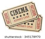 vintage retro cinema creative... | Shutterstock . vector #345178970