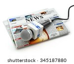 news or journalism concept....   Shutterstock . vector #345187880