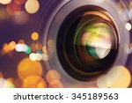 photographic camera lens front... | Shutterstock . vector #345189563
