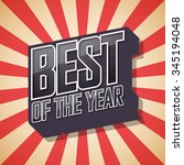 best of the year. poster comic... | Shutterstock .eps vector #345194048