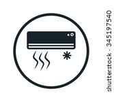 air conditioning icon | Shutterstock .eps vector #345197540