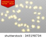 christmas light vector brush.... | Shutterstock .eps vector #345198734