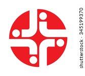 cross medical logo vector. | Shutterstock .eps vector #345199370