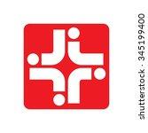cross medical logo vector. | Shutterstock .eps vector #345199400