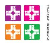 cross medical logo vector. | Shutterstock .eps vector #345199418