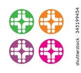 cross medical logo vector. | Shutterstock .eps vector #345199454