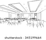 outline sketch drawing... | Shutterstock .eps vector #345199664