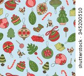 seamless vector pattern with... | Shutterstock .eps vector #345200510