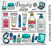 hand drawn vector illustration... | Shutterstock .eps vector #345200576