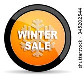 winter sale orange icon | Shutterstock . vector #345202544