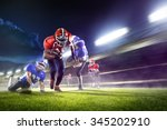 american football players in... | Shutterstock . vector #345202910