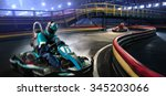 two karting racers are racing... | Shutterstock . vector #345203066