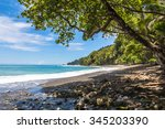 beach and jungle in corcovado... | Shutterstock . vector #345203390
