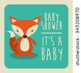 baby shower invitation design ... | Shutterstock .eps vector #345208970