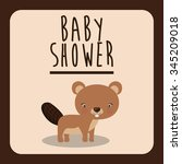 baby shower invitation design ... | Shutterstock .eps vector #345209018