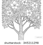 Forest Apple Flower Tree....