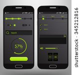 dark mobile graphic ui vector... | Shutterstock .eps vector #345212816