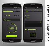dark mobile graphic ui vector... | Shutterstock .eps vector #345212816