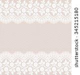 seamless lace pattern  flower... | Shutterstock .eps vector #345215180