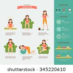 preparing for labor. set with a ... | Shutterstock .eps vector #345220610