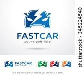 fast car service logo template...   Shutterstock .eps vector #345224540