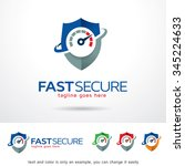 fast secure logo template... | Shutterstock .eps vector #345224633