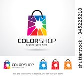 color shop logo template design ... | Shutterstock .eps vector #345225218