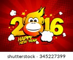 Happy New Year 2016 Card With...