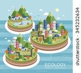 lovely ecology urban landscape...   Shutterstock .eps vector #345232634