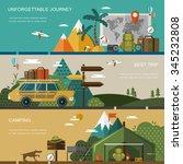outdoor activity concept banner ...   Shutterstock .eps vector #345232808