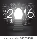 2016 business success strategy... | Shutterstock .eps vector #345233084