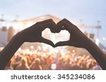 she loves this band  heart... | Shutterstock . vector #345234086