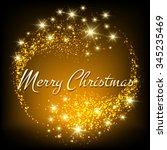 merry christmas festive design. ... | Shutterstock .eps vector #345235469