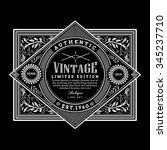 vintage frame border western... | Shutterstock .eps vector #345237710