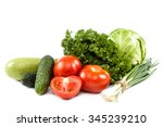 Fresh Vegetables Isolated On A...