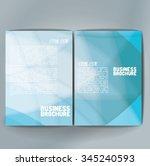 vector brochure template design ... | Shutterstock .eps vector #345240593