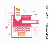 modern line flat design concept ... | Shutterstock .eps vector #345246428