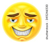 an emoji emoticon character... | Shutterstock . vector #345246530