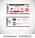 football ticket card modern... | Shutterstock .eps vector #345246923