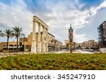 square in historic  ancient... | Shutterstock . vector #345247910