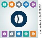 icon of cricket ball in multi... | Shutterstock .eps vector #345250550
