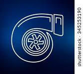 turbo icon. turbocharger sign.... | Shutterstock .eps vector #345253190